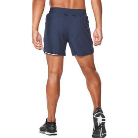"2XU Aero 5"" Shorts Men midnight/silver reflective"